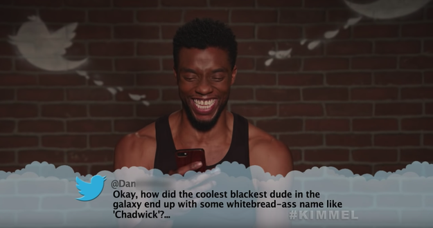 Here's Chadwick Boseman, aka Black Panther, reading the most backhanded compliment of all time.