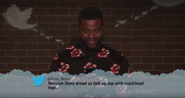Here's Winston Duke, aka M'Baku, learning that he may have skipped leg day one too many times.