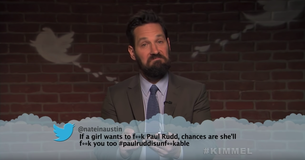 Here's Paul Rudd, aka Ant-Man, clearly on Opposite Day.