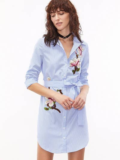 4d826dc6205c8 9. An embroidered shirt dress made for Monday mornings, when you need to  look put together without trying.