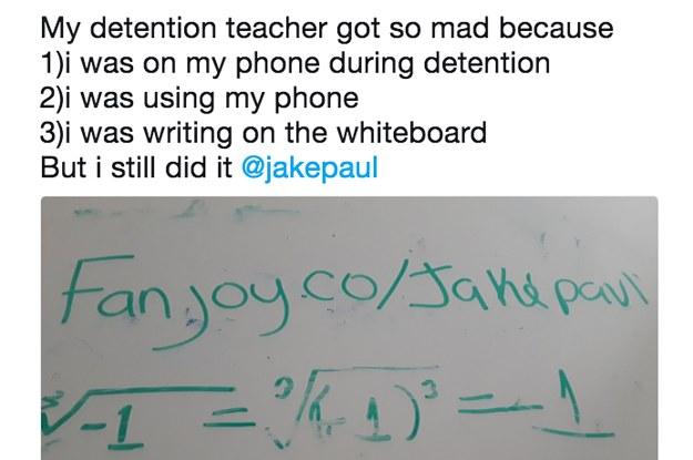 92ef244ee37 Kids Are Risking Getting In Trouble In School To Help Jake Paul Sell Merch