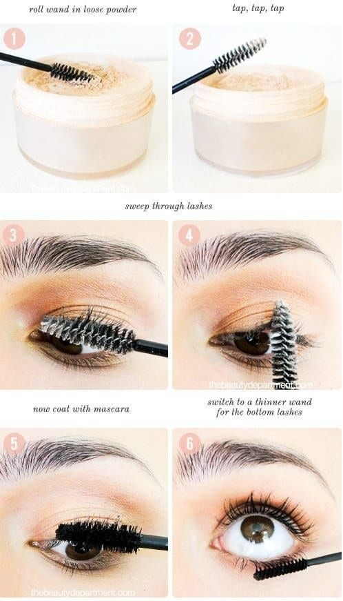 Check out more from The Beauty Department for how to get thicker lashes!The Beauty Department recommends you use CoverGirl mineral loose powder ($8.99 on Amazon; available in two shades).