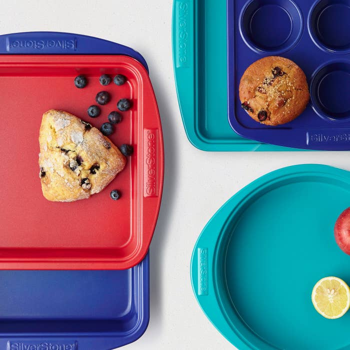 """Promising review: """"I love Silverstone bakeware, it's a colorful and convenient way to prepare meals! No scrubbing, food doesn't stick, and a little soapy water makes it looks like new."""" —SmithsandrPrice: $11.79 (available in two colors)"""