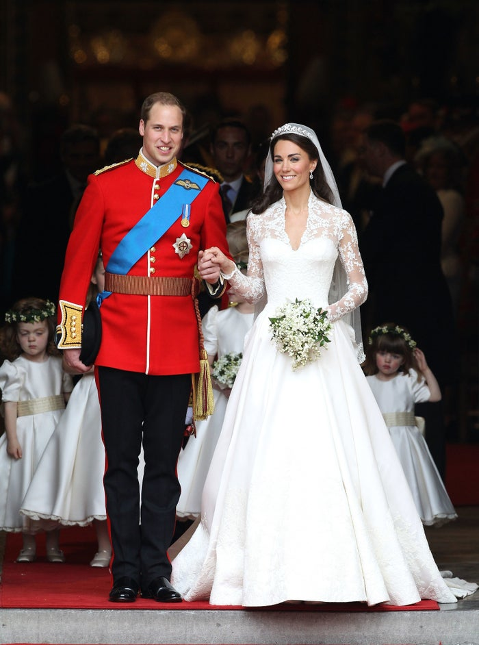 Prince William, the Duke of Cambridge, and Catherine, Duchess of Cambridge (née Catherine Middleton), on April 29, 2011.