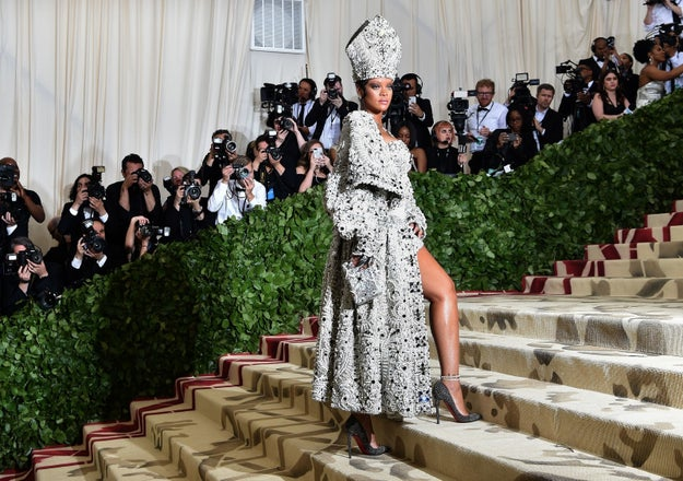 Then she hit up the Met looking like the actual Pope and absolutely killed the red carpet.