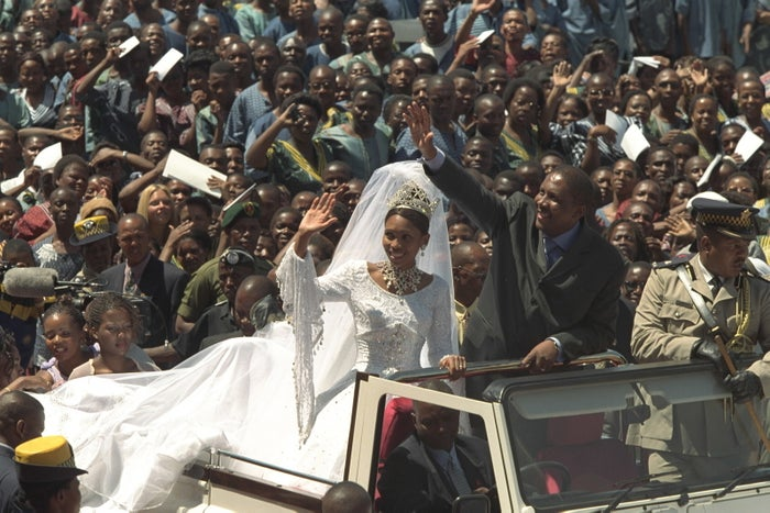 King Letsie III and Queen 'Masenate Mohato Seeiso (née Anna Karabo Motšoeneng), on Feb. 18, 2000.