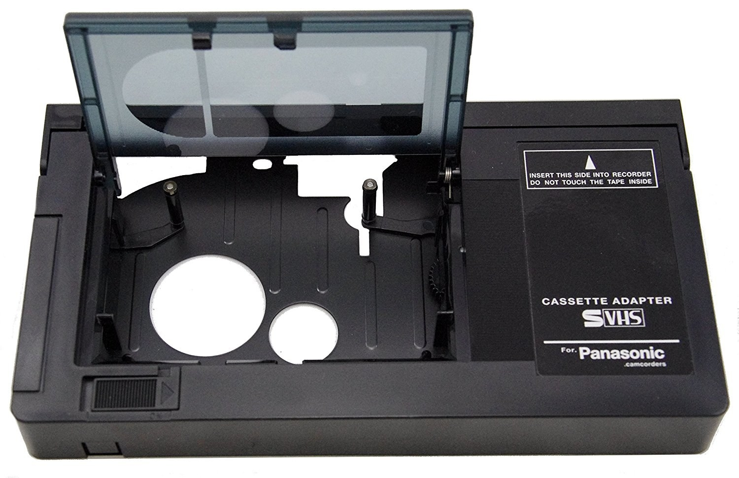 "Promising review: ""I got this so I could transfer all of our old VHS-C tapes to a DVD for a family birthday present. It worked flawlessly for all 31 tapes. The motor works great and the quality overall for the adapter is very high. It's much nicer than the old one we used to have. It takes batteries and the motorized function is way too fun. This is a funny device, but super handy. I highly suggest transferring your tapes, and using this to do it."" —JacGet it from Amazon for $33."