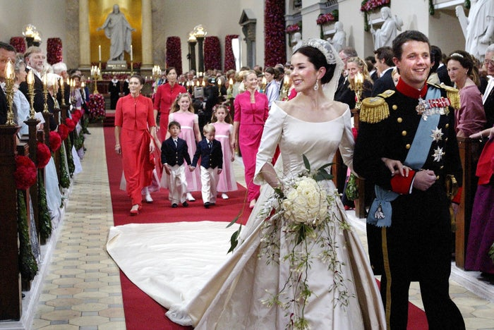 Crown Prince Frederik and Crown Princess Mary (née Mary Donaldson), on May 14, 2004.