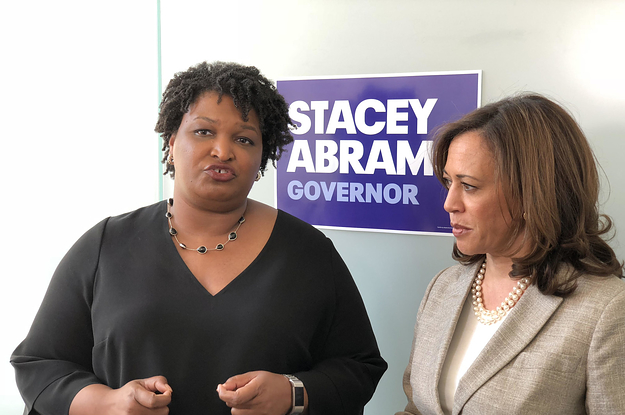 photo image Stacey Abrams And Kamala Harris Gave Black Woman Democrats A Moment They've Been Waiting For