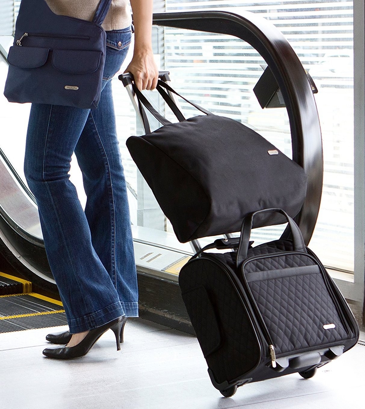 A carry-on bag you can store — YES — right underneath the seat in front of  you. No more getting up mid-flight to see if you left your headphones in  your ... 3014bdddec539