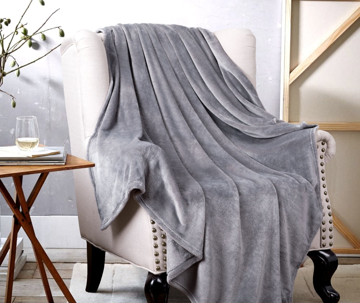 """Plus it's wrinkle and fade resistant, doesn't shed, and is suitable for all seasons. AND it's machine washable!Promising review: """"When this blanket first arrived, I held it up to my face, said 'It's so fluffy I'm gonna die!' and chuckled to myself. I set it up as a throw to make the guest chair in my office a little more inviting and colorful. Little did I know my exclamation would be prophetic. The very next day, I found my furbaby cat almost too relaxed to remember to breathe. Despite it, he refuses to leave the almost womb-like softness and warmth of this thing which is the blanket equivalent of Flexaril. I can't get him out of it. I'm afraid I'm going to lose him. Thanks, Bedsure for a killer blanket (in all seriousness, the cat is fine. He loves the blanket, and so do I. When he's willing to share.)."""" —Ninacarme N MonroeGet it from Amazon for $15.99 (available in four sizes and in ten colors) or a similar style from Walmart for $6+ (available in two colors)."""
