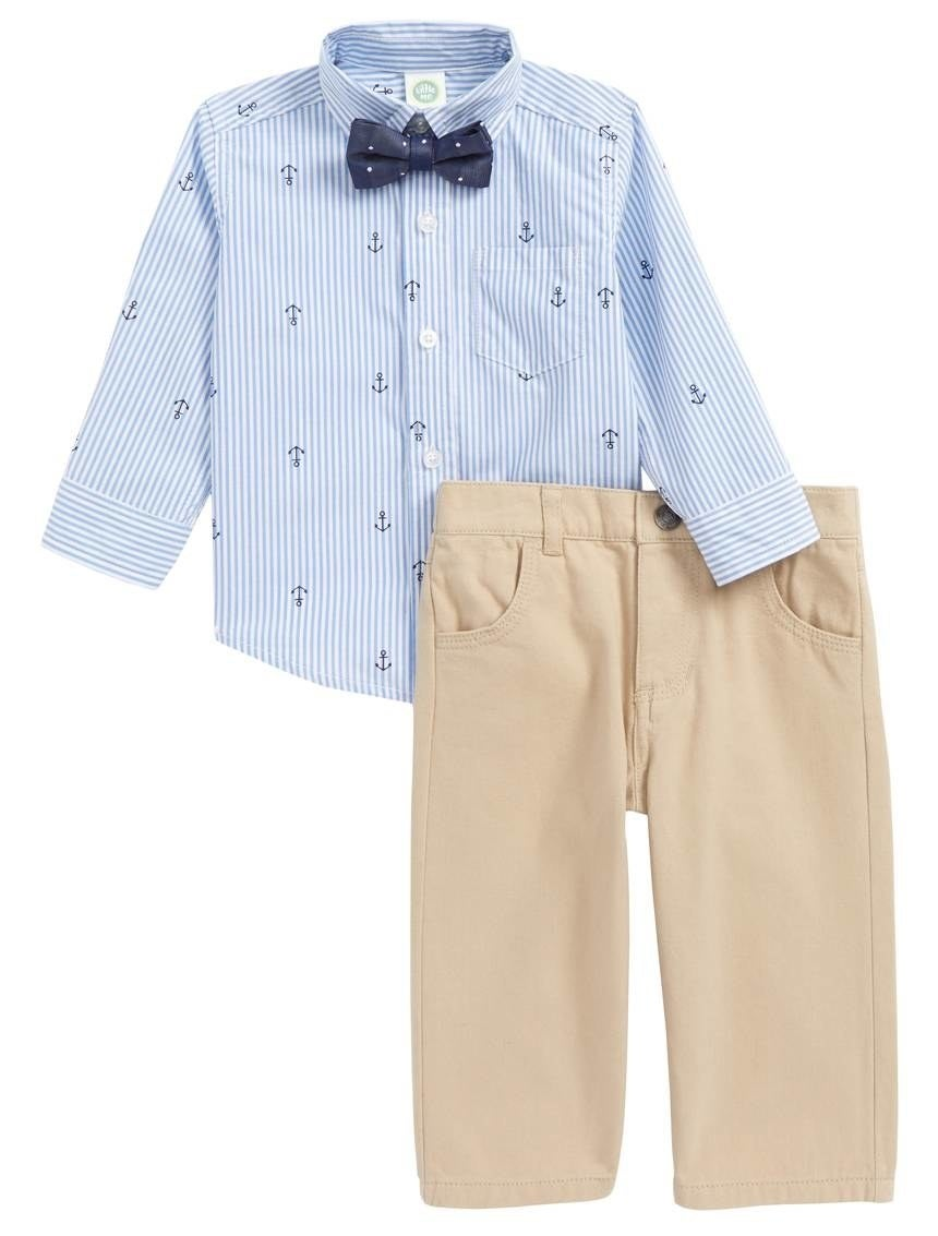"Promising review: ""Absolutely adorable! Can't wait for my little guy to wear this for Easter. The details are impeccable and the fit is perfect."" —mandaann17Get the three piece set (including slack, button-up, and bow-tie) from Nordstrom for $36 (available in sizes 12M-24M)"
