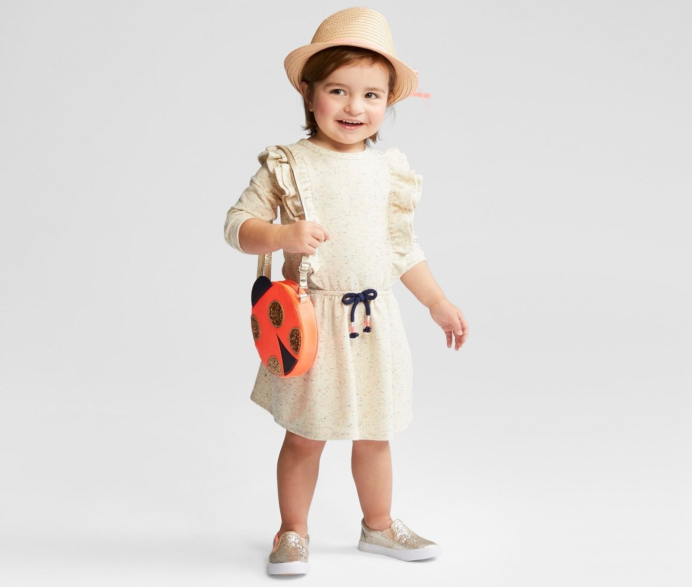 "Promising review: ""LOVE the pockets! The dress is a heavier fabric and the sleeves are full length. "" —toddlermommaGet it from Target for $10.18 (available in sizes 12M-5T)."