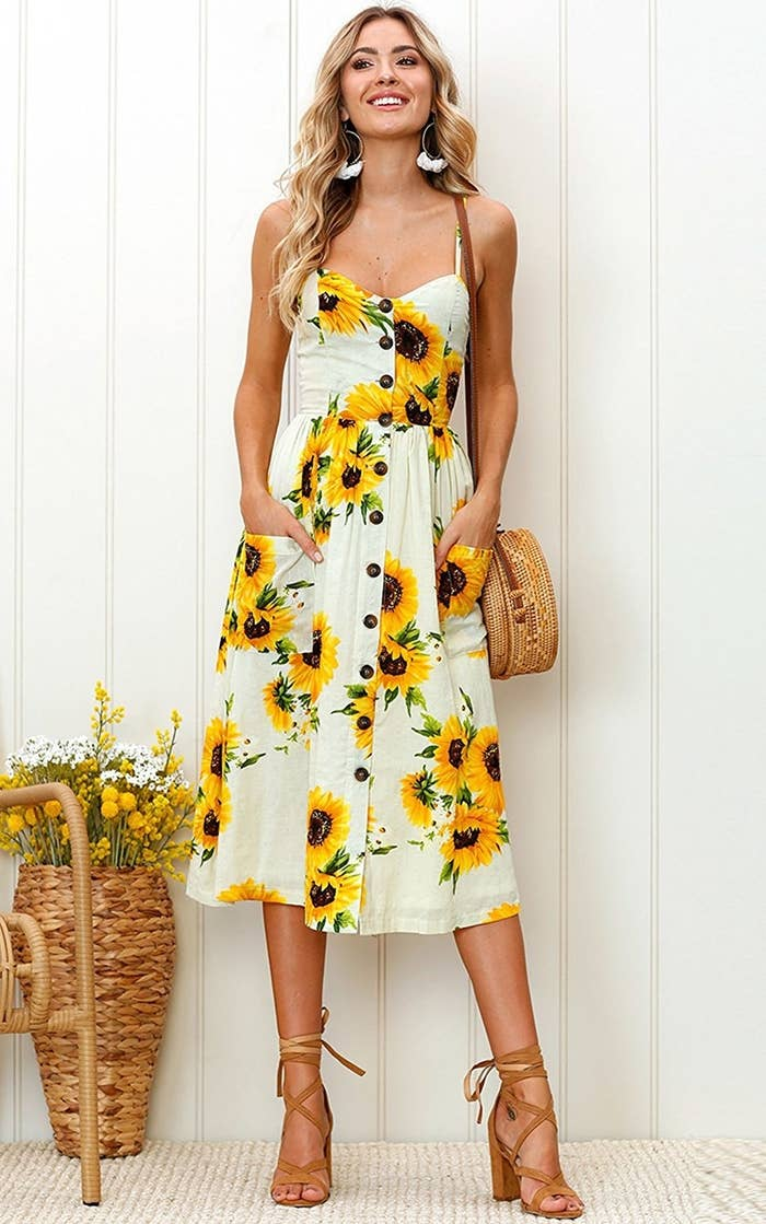 394df66f956 An almost insultingly charming sunflower dress that ll pretty much be  singing