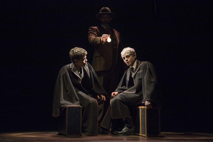 Albus Severus Potter (Sam Clemmett) and Scorpius on the Hogwarts Express.