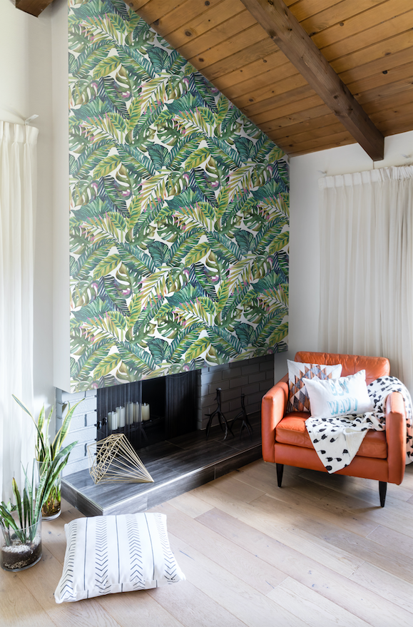 Get them from Society 6 for $49+ (available in three rolls sizes).Get the banana leaf wallpaper for $49+ (available in three roll sizes).