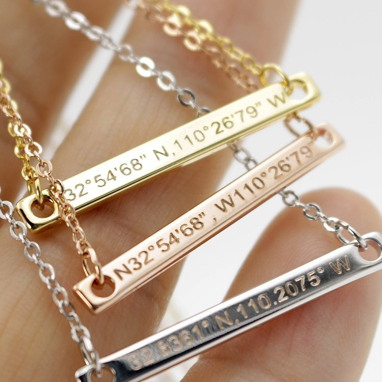 """All you need to do is enter your coordinates when placing your order! Promising review: """"My best friend was going to the state championship for our school so I got her this and engraved it with her catchphrase and it was perfect! She loved it and it's really durable! She plays with it on everyday and it's still in perfect condition!"""" —DabneyGet it from Amazon for $18.98 (available in three colors)."""
