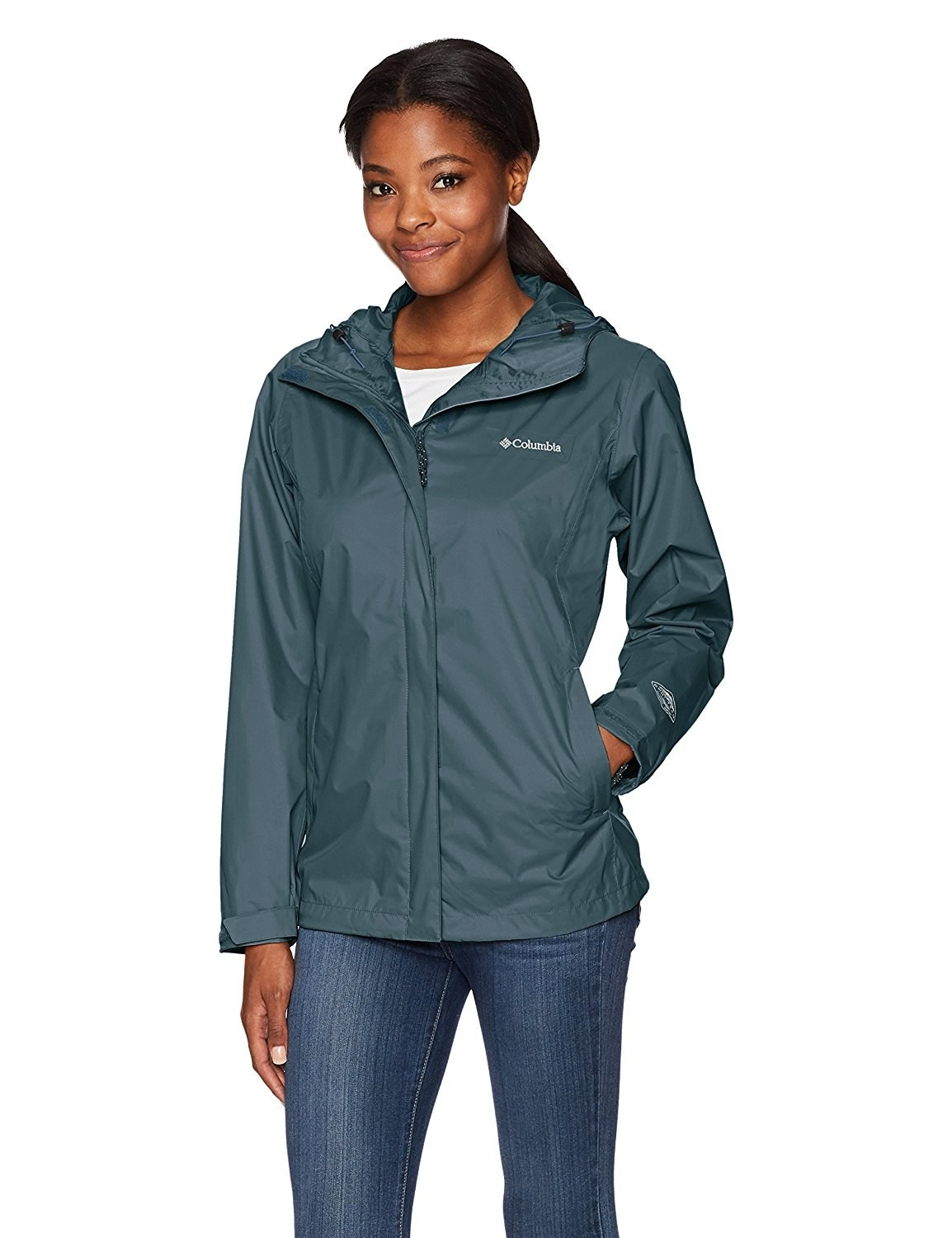 A waterproof jacket guaranteed to keep you bone dry, even in the most intense downpours. An umbrella? I don't know her.