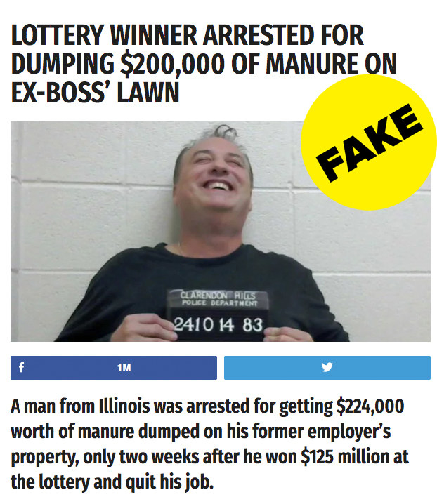 Viral Lottery Winner Defecating On Boss S Desk News: A Lot Of People Fell For A Fake Story About A Man Taking