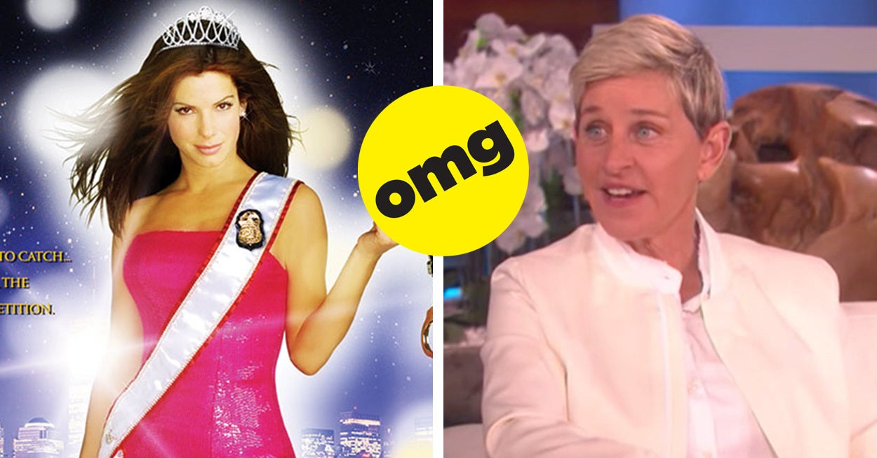"This Fact About ""Miss Congeniality"" And Ellen Degeneres Will Blow Your Goddamn Mind"
