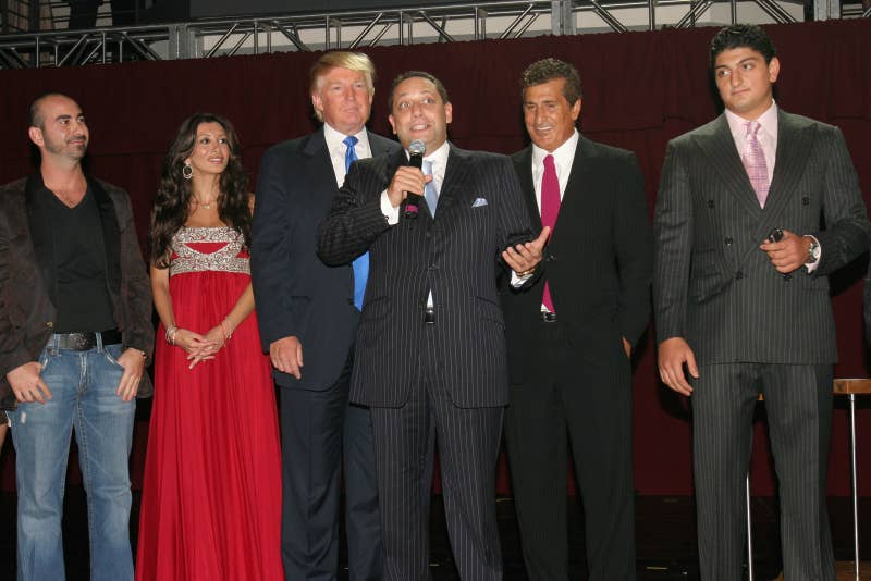 Donald Trump and Felix Sater (center) in 2007.