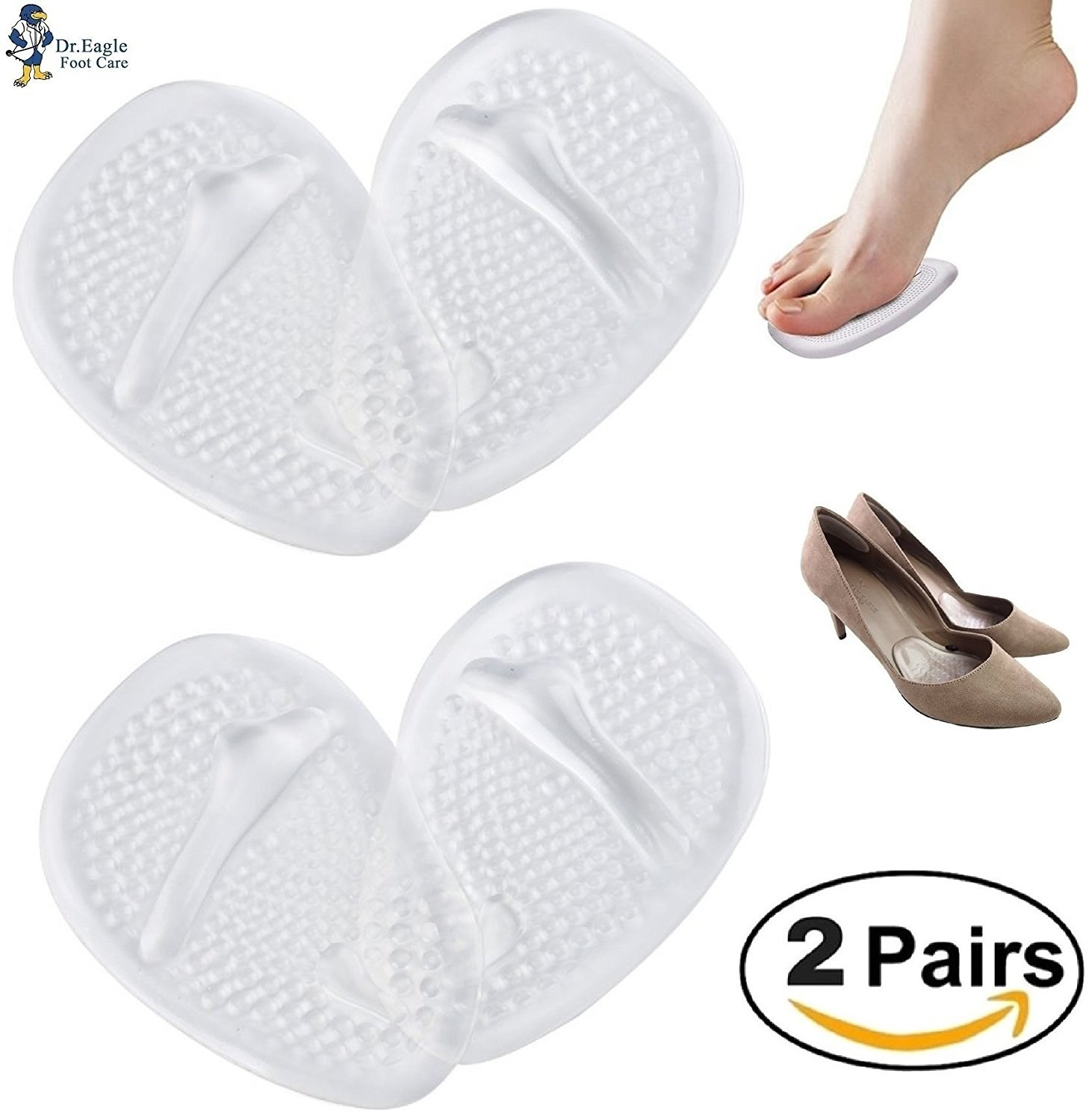 clear oval shaped shoe inserts