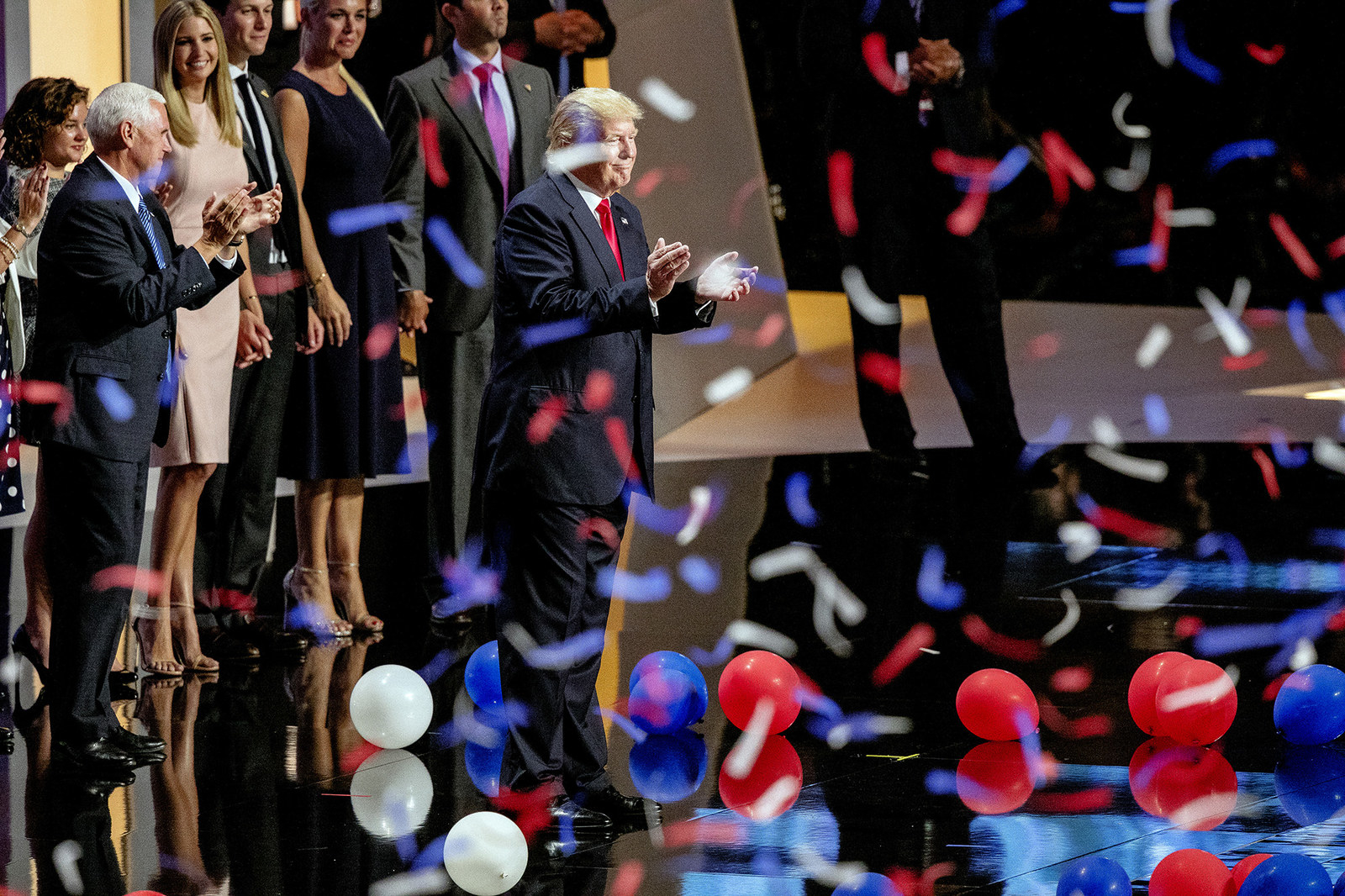 Trump during the Republican National Convention in Cleveland.