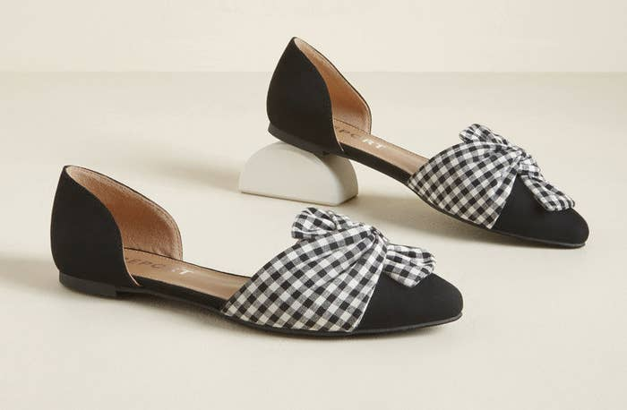 d7f96d9e56f8 A pair of flats that (despite their name) will add some real dimension to  your wardrobe.