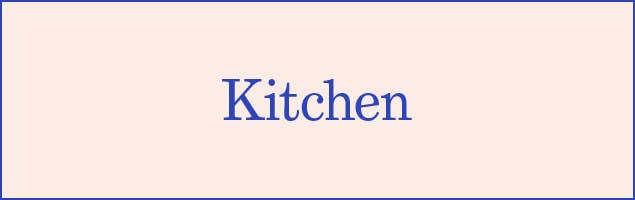 Section divider for Kitchen