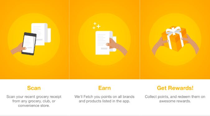 Scan, Earn, Get Rewards steps