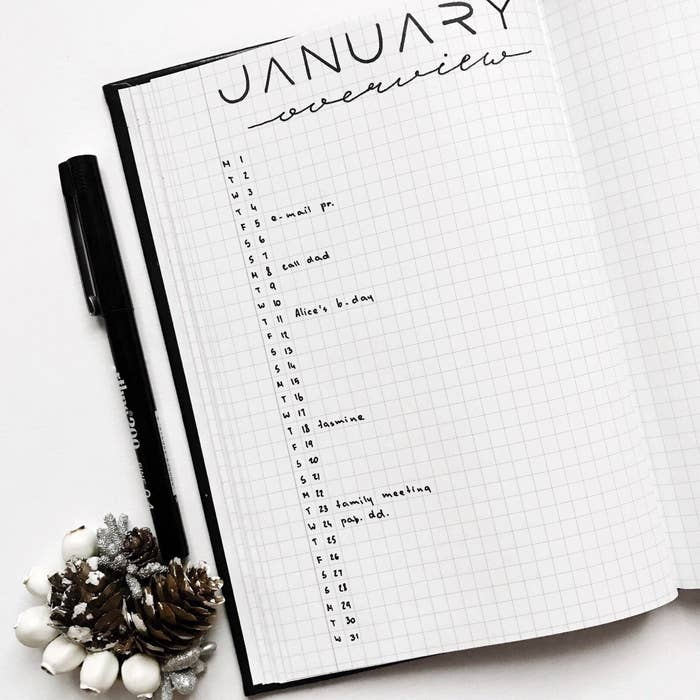 21 Minimalist Bullet Journal Spreads That Are So Pretty, You Might