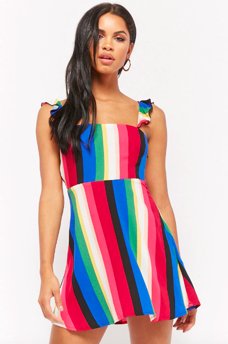 52ba5baf95ef A multicolor-striped mini dress that ll give Rainbow Brite a run for her  money.
