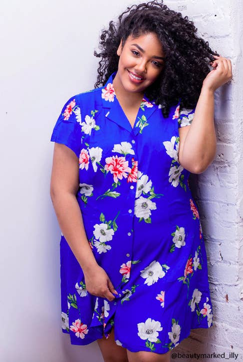 """Promising review: """"This dress is such a stunner, I love it! The colors are so bright, bold, and cheery. Overall, this dress has a strong '90s vibe — I know because I wore dresses like this back then, lol."""" —Meg D.Get it from Forever 21 for $22.90 (available in sizes 2X-3X)."""