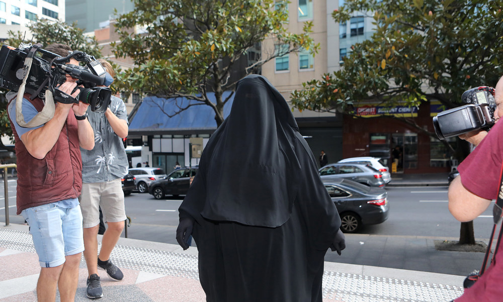 Moutia Elzahed arrives at court in Sydney on May 4, 2018.