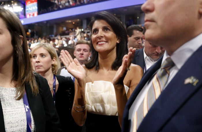 Then-governor Nikki Haley of South Carolina at the 2016 Republican National Convention in Cleveland.