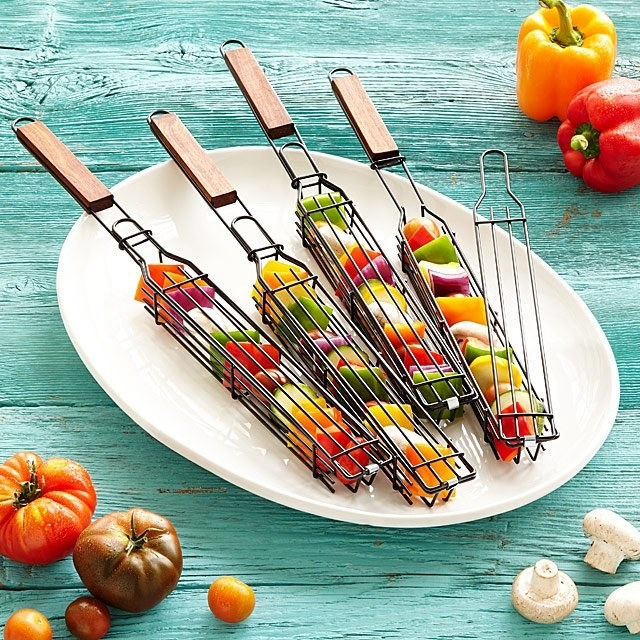 "Kabob ""baskets"" with veggies inside"