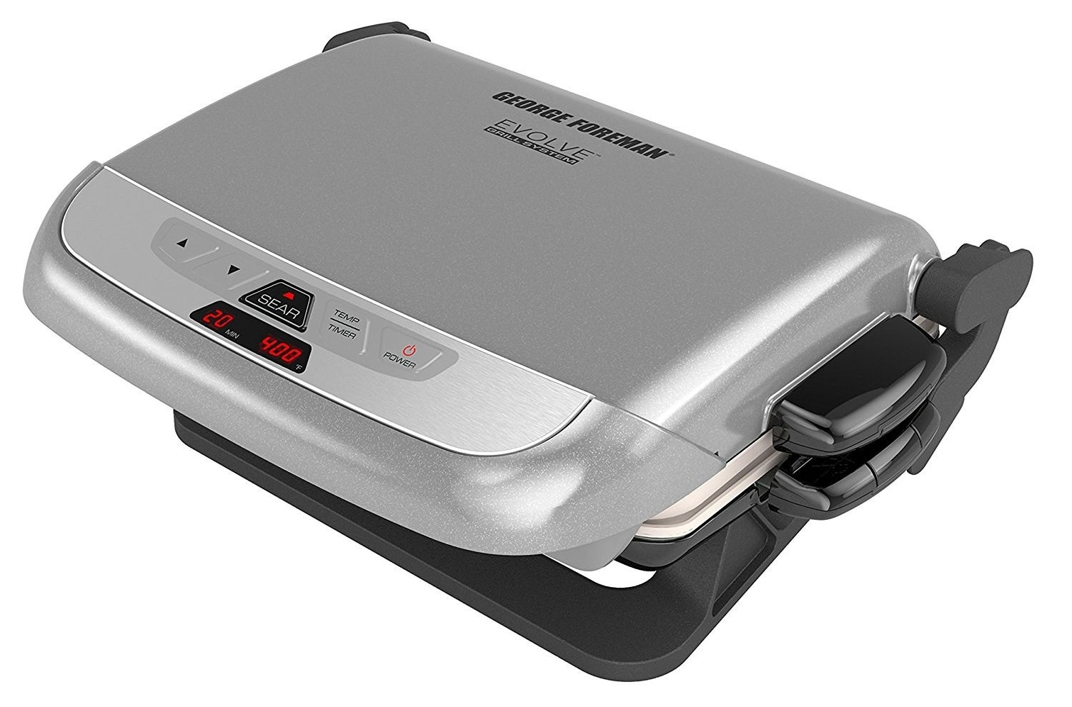 "Promising review: ""We are loving this for bringing our grilling indoors for the winter! The nonstick plates are truly nonstick. You don't need oil at all, and what looks like truly burnt on material falls right off under running water or poking it with the little plastic stick it comes with. We have done steaks, pork chops, chicken, fish, and waffles. Works great. Don't overfill it with waffle batter, or it will mush out the back and make a big mess. The plates hand wash easily or go through the dishwasher favorably too. The 'sear' option is a little quirky but works fine. Pork chops or steaks with a large bone are harder to cook, as the plates sit on the hard bone and don't otherwise make as much contact with the meat. This makes them take longer but they still cook fine."" —A. JarrellPrice: $83.42"