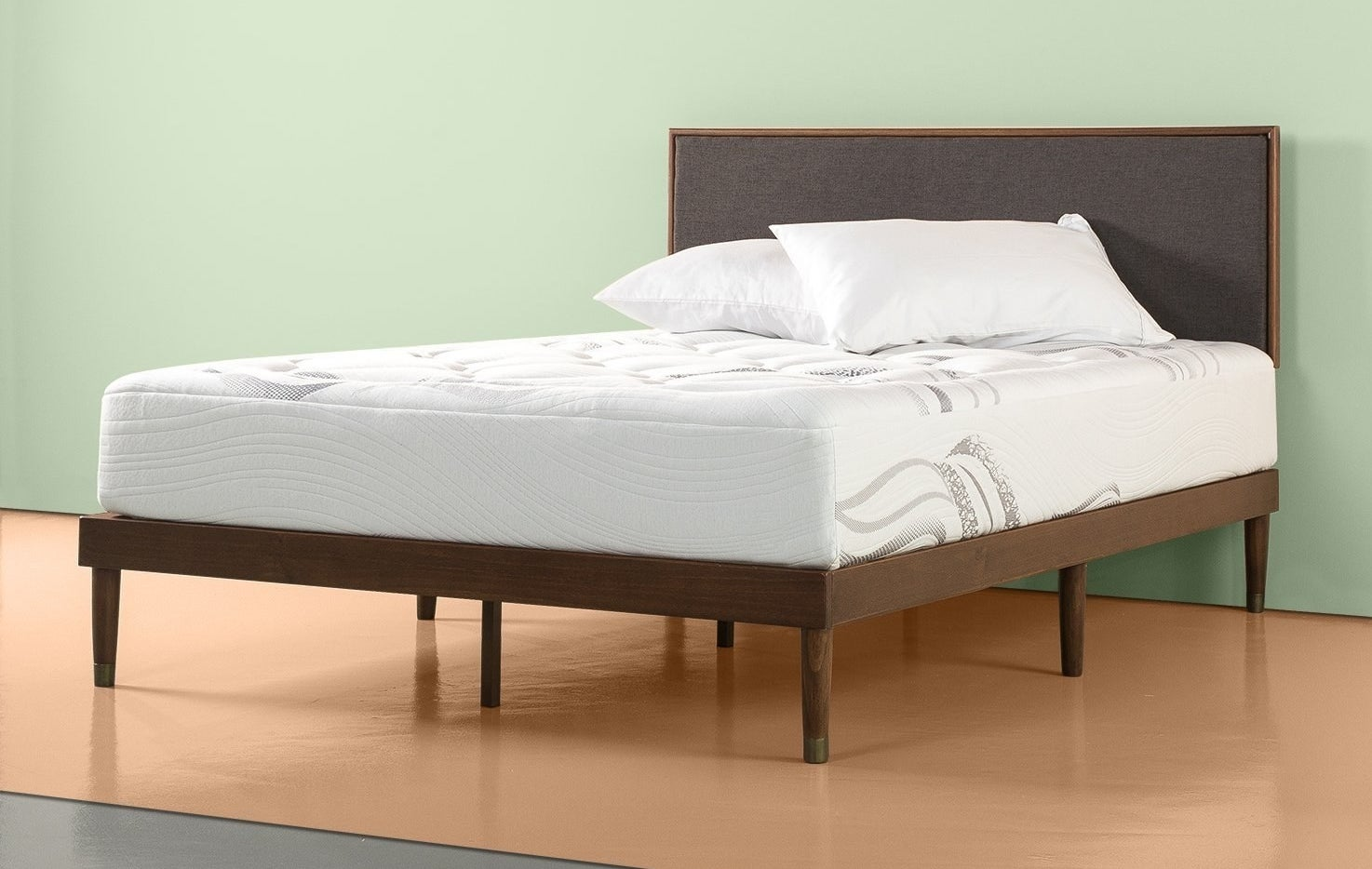 "Promising review: ""Your search for the perfect bed ends here! I love the marshmallow cloud that loves me and will not hurt me lol!! I was seriously nervous about purchasing a mattress and even more so about doing so online. I am completely in love with this bed. It came fast and in double bags and a box so it was nice and clean/ easy to slide around. It's perfectly firm and fluffy. It looks and feels beautiful, very soft, not cheap at all, and has no odor. I do not see how traditional mattress companies can stay in business with an affordable and wonderful product such as this. It's literally like a mini luxury vacation every time I go to bed. No back pain and less waking up at night too. I was however surprised at how deep of sleep I was getting, dreams, and just hard to wake up. I'm usually a morning person/ light sleeper but now I desperately want to hit the snooze and take siesta, every day. My husband and I are between 220–250 each and this bed completely supports us without sagging like some beds I tried out in person. And, it's great that there is no motion transfer. I don't even wake him up rolling over or getting up. Great product and great price. Why are you still reading? Buy one and get your pjs on! It will change your life!"" —Ana S. Price: $163.69+ (available in 3 heights and four sizes)"