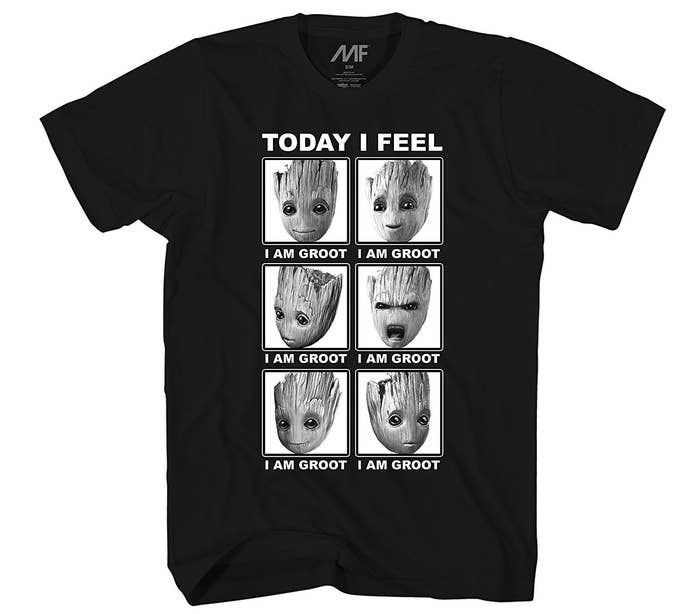 02f87fa19314 An emotions-of-Groot T-shirt that ll accurately describe how you feel at  any given moment.