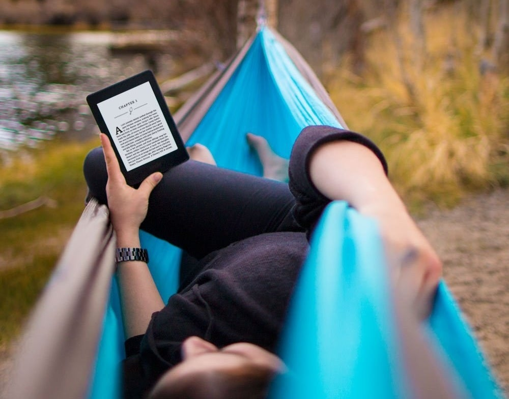 "Promising review: ""I LOVE this Kindle! It's so light and versatile, I can read it from anywhere in whatever weather/light conditions and the charge lasts about a week and a half with constant use. I was so sad when a friend dropped mine and cracked the screen, because the device was like a best friend BUT, one quick call to Customer Support, and they shipped another one to me for free arriving a day later (thank you, limited one-year warranty). It's skinny so it fits in my purse or bag with ease and only takes a little less than an hour to charge. Some people have complained about the fact that the pages 'flash' when turned, but that's just a really neat feature of the Kindle (if you're used to the way a tablet turns pages, this might throw you off, but you won't escape it when you order a Kindle). I also love how you can change the settings to make the words bigger/smaller and the background light brighter/less bright depending on environment and habits. Being able to access all my Kindle books from my Amazon account when this beauty isn't on me is another perfect feature, and if you have the Kindle app on your Smartphone, the three devices 'link' and even ask you if you want to continue reading from your last read page. Awesome feature. I can't say enough good things about this. Customer Support is amazing and helpful, and didn't make me feel like a loser when my screen cracked. They just replaced it, gave me a label to return the old one, and BOOM! It arrived the very next day."" —GoldenRose Price: $119.99"