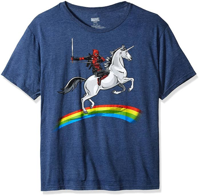 d71cb8ff9 A T-shirt perfect for anyone who loves Deadpool and unicorns as much as  Deadpool loves unicorns. Which is... a lot.