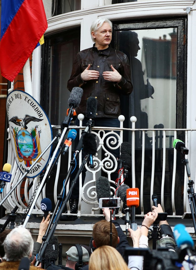 Here's the background: Assange has been holed up in Ecuador's embassy in London since 2012.