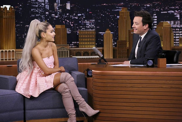 Ariana Grande, queen of rainbows and singing upside down, recently made a guest appearance on The Tonight Show.