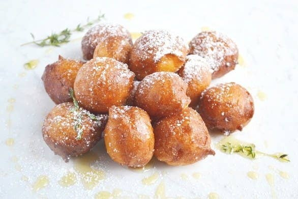 These ricotta doughnuts are perfect for a weekend treat and are fantastic to serve to friends and family when you have guests over, I assure you they will go fast. You can get the full recipe here: https://www.insidetherustickitchen.com/orange-ricotta-doughnuts-honey-thyme/