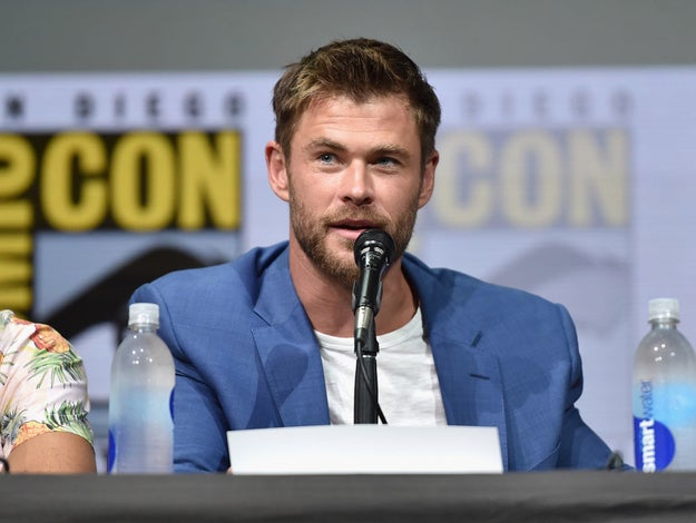 Chris Hemsworth worked at a pharmacy, where he would clean breast pumps.