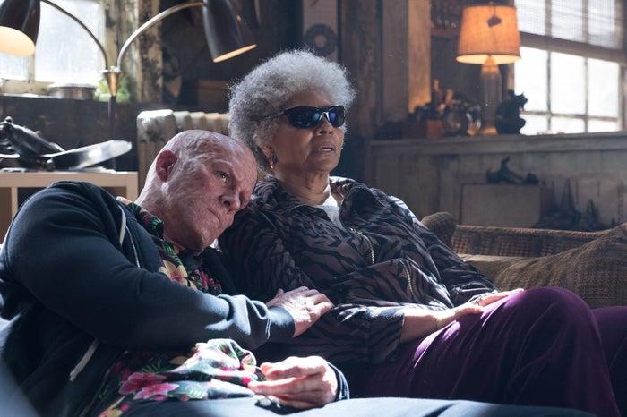 Ryan Reynolds and Leslie Uggams in Deadpool 2.