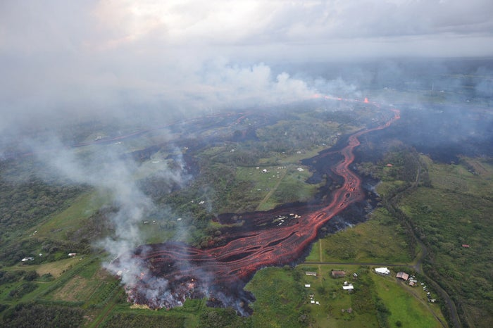 The US Geological Survey says that the lava is starting to move faster because it is fresher than the magma that was previously being pushed to the surface. At its peak, the flow was moving up to 400 yards per hour, according to USGS.