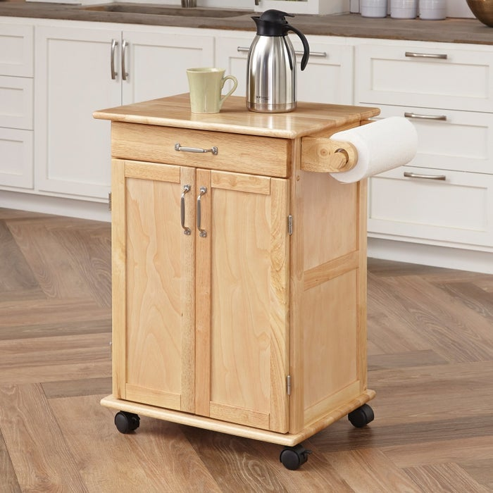 """Promising review: """"This is a quality product. It was the best online purchase I can remember. The packaging was excellent with no damage to any of the many parts. The wood is solid any well finished. The hardware was individually packaged and labeled. The directions were simple and clear. The assembled island looks great. The drawers work smoothly. I highly recommend this product."""" —RobertPrice: $135.87"""
