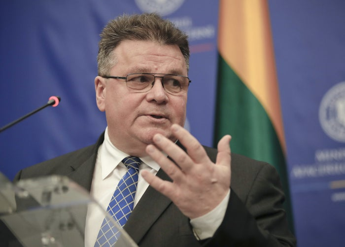 Lithuania's Foreign Minister Linas Linkevičius.