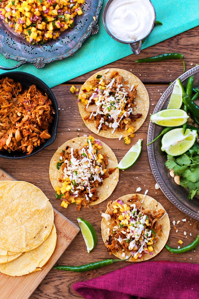 The next time you're craving tacos — so, like 15 minutes from now — try this vegan twist on carnitas. They have the exact same texture as the classic Mexican dish, and tons of bold flavor. Recipe here.